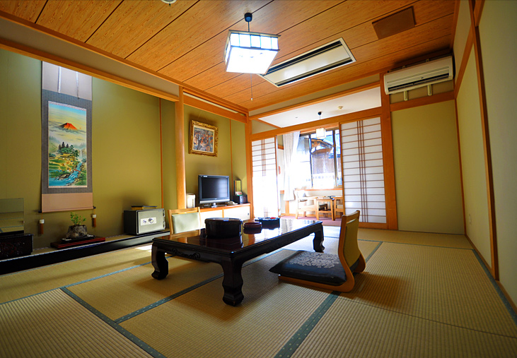 All guest rooms have rotenburo open-air baths attached Anyone can make themselves at home and enjoy the onsen (hot springs)